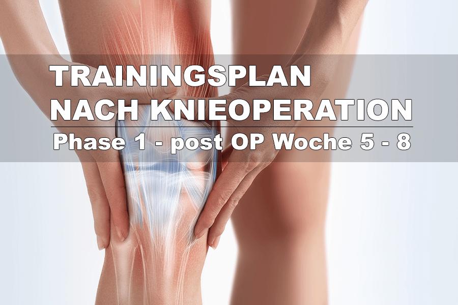 Training nach Knie-OP